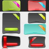 Web Boxes Set  Royalty Free Stock Photo