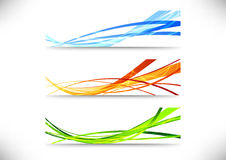 Web bright headers collection Stock Images