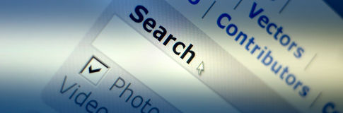 Web browser. Www search internet Stock Photography