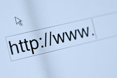 Web browser. Www http - Web browser on monitor Stock Images