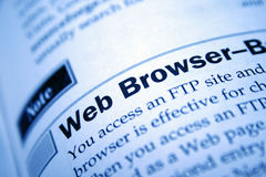 Web browser Royalty Free Stock Image