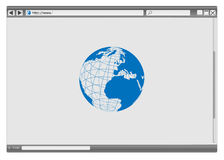 Web browser illustration libre de droits