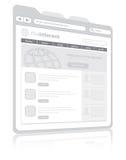 Web browser ilustración del vector