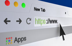Web browser address bar Royalty Free Stock Images