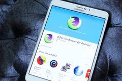 Web browser APP d'Orfox pour le mobile Image libre de droits