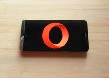 Web browser app de Opera fotografia de stock royalty free
