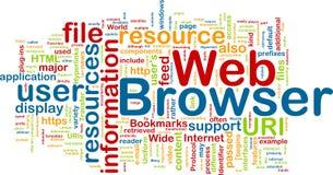 Web browser background concept vector illustration