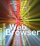 Web browser background concept glowing Royalty Free Stock Photo
