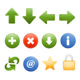 Web browser common icons Royalty Free Stock Images