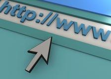 WEB BROWSER - 3D Lizenzfreies Stockfoto