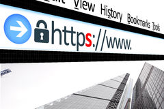 Web browser da relação da conexão fixada Fotografia de Stock
