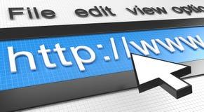Web browser del Internet stock de ilustración
