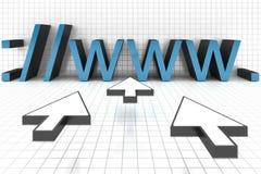 Web browser del Internet ilustración del vector