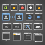 Web browser icons Royalty Free Stock Photo