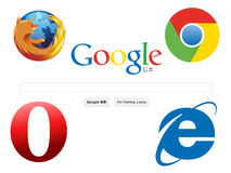 Web browser icons Royalty Free Stock Photos