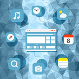 Web browser information transfer concept Stock Photos