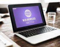 Web Browser Internet Net Technology Concept Stock Photography