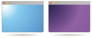 Web browser mini stock de ilustración