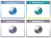 Web browser in vector Royalty Free Stock Photos