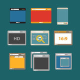 Web browsers flat design collection Stock Images