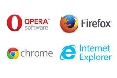 Web browsers Stock Photos