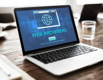 Web Browsers Global Page Site Interface Concept Stock Photography