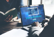 Web Browsers Global Page Site Interface Concept.  Royalty Free Stock Images