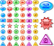 Web business button icon Royalty Free Stock Images