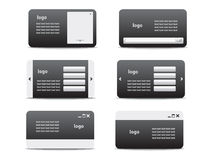 Web business card set 01 Stock Photo
