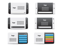 Web business card set 04 Stock Photography