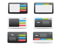 Web business card set 05 Royalty Free Stock Photos
