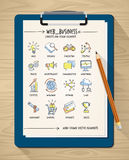 Web and business doodles Royalty Free Stock Photography