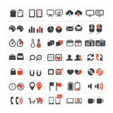 Web and business icons Stock Photo