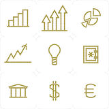 Web business icons. Web business finances icons 9 buttons isolated Royalty Free Stock Photography