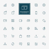 32 web and business minimal line icons. Vector Royalty Free Stock Photos