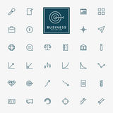 32 web and business minimal outline icons. Vector Royalty Free Stock Photography
