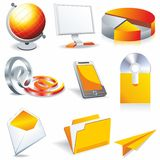 Web business & office icons Stock Images