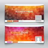 Web business site, Header Layout Template. Profile Creative cover. Royalty Free Stock Photo