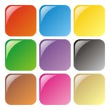 Web Button. Multi color shiny internet button stock illustration