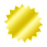 WEB BUTTON. Yellow star button - web button - internet design Stock Images