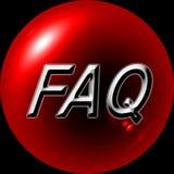 Web Button. Red button FAQ - Web Button - Internet Design Royalty Free Stock Image