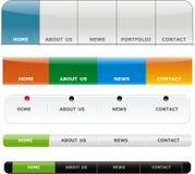 Web button. Vector web bar menu with button for website Royalty Free Stock Photos