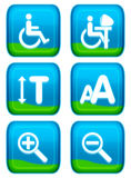 Web button - aid set. Eye appealing aqua style of web button - aid series Stock Photography