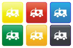 Web button - ambulance Royalty Free Stock Image