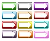 Web button arrow Stock Images