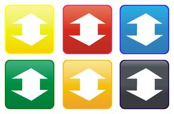Web button - arrow Royalty Free Stock Photography