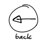 Web button - back arrow Stock Photography