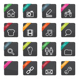 Web button badges Royalty Free Stock Photo
