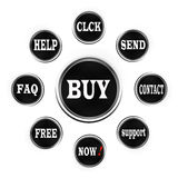 Web button-buy Royalty Free Stock Photos