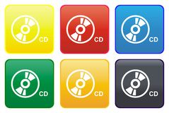 Web button - CD Royalty Free Stock Images